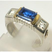 Anel Formatura Prata De Lei 950 C/ Apliques Em Ouro 18k