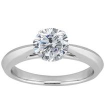 Anel Solitario Ouro Branco Diamante 2,35 Cts Modelo Tiffany