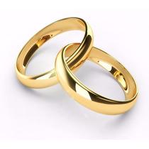 Par De Alianças Noivado Anatômicos Inox Ouro Douradas Lindas