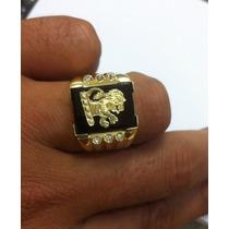 Anel Leão Judá Masculino Em Ouro 18k 750