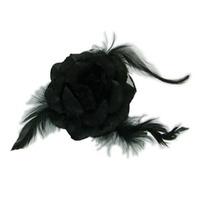 Flor De Cabelo 3 Em 1 Preta