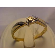 #482a - Anel Solitário Em Ouro 18k Com Diamante De 5 Pontos
