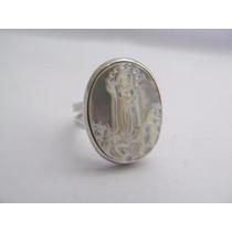 Anel Madrepérola Nossa Senhora Da Fátima Prata 950