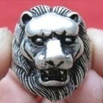 Anel Unissex Leão De Prata Tibetana !!!