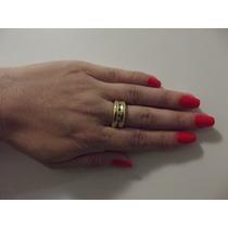 Anel Ouro 18k/750 Com Diamantes Hstern