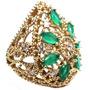 Hsh-anel Rendado Turquia Turco Prata 925 Zirconia Jade