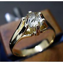 Anel Masculino Pé De Cabra Ouro 18k Diamante 1,10 Cts