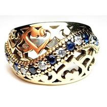 Gpw-anel Turquia Turco Prata 925 Zirconia Safira Frete 1,00