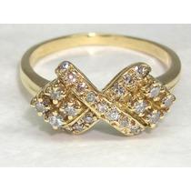 Pocao2005- Anel 18k 750 Diamantes Lindos Frete Gratis