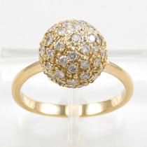 Esfinge Jóias - Anel Bola De Diamantes Aro18,5 Ouro 18k 750.