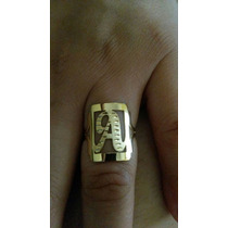 Anel De Letra 3 Grs - Joia Ouro 18k / 750