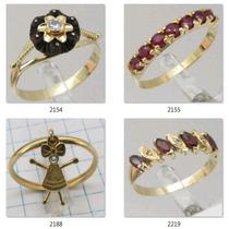 299 Reais Anel A Escolher Ouro 18k 750 2131 Prince Joias W