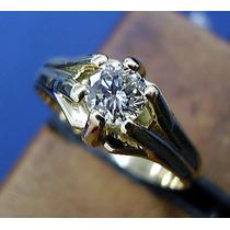 Anel Masculino Pé De Cabra Ouro 18k Diamante 0,50 Cts