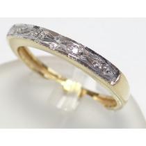 Feliz Joias - Oferta - Diamantes Em Anel 1/2 Aliança De Ouro