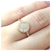 Anel Chuveiro Pedra Lapidação Brilhantes Ouro 18k Certificad