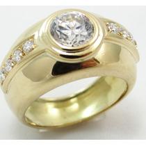 Feliz Joias - Promoção - Anel Com Brilhantes Em Ouro 18k