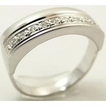 Feliz Joias - Diamantes Em Lindo Anel De Ouro Branco