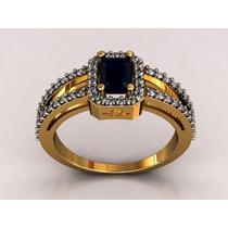 Anel Formatura Luxo. Diamantes Pedra Natural. Luxo!! Luxo!