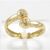 Esfinge Jóias - Anel Design Corações Diamantes Ouro 18k 750.