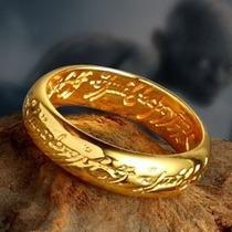 O Um Anel Hobbit Senhor Dos Anéis Baixo Relevo Com Corrente