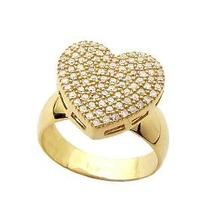 Linda Jóia Anel Coração Em Ouro 18k E Diamantes!!