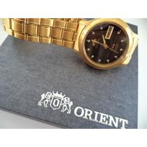 Relogio Orient Folheado Dourado