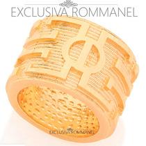 Rommanel Anel Masculino Trabalhado Folheado Ouro 18k 512008