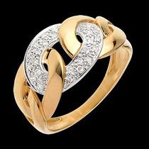 Vivar Anel Laços Com 0,24 Quilate Em Diamantes