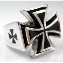 Anel Cruz De Malta Sobreposta (prata De Lei 950)