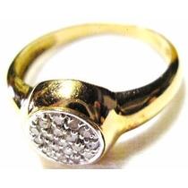 Ivi1388 = Anel Com Diamantes O.amarelo 18k !!! Vivara!