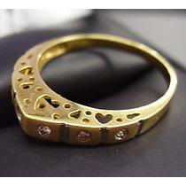 Maravilho E Moderno Anel Em Ouro 18k ****com Diamantes !!