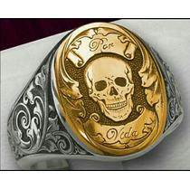 Anel Luxury Masculino Ouro/prata