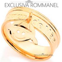 Rommanel Anel Amor De Mae Pingente Menino Folhea Ouro 511808
