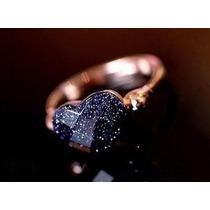 Anel Coração Cintilante Aro 14 Banhado Em Ouro J1564d