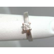 Pocao2005- Anel Ouro Branco 18k 750 Diamante! Frete Grátis