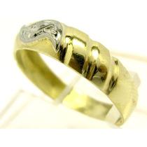Joianete A9517-06606 Anel Ouro 18k-750 Maciço Ouro Branco