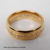 Anel O Senhor Dos Anéis + Correntetungstênio Folheado A Ouro