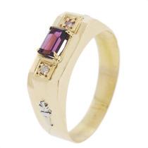 Anel De Formatura Em Ouro 18k Com Diamantes Naturais