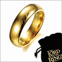 Anél Senhor Dos Anéis Titânio Banho De Ouro 18k Compromisso