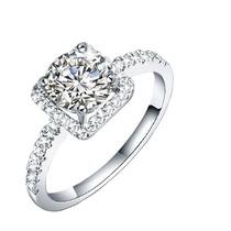 Maravilhoso Anel Prata Genuína 925 Com Diamante Cz Cristais