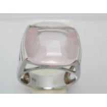 Boqueiraojoias Anel Vivara 18 Diamantes 1 Quartzo Ouro 18k