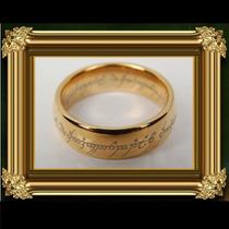 O Anel Trilogia Senhor Dos Anéis Banhado A Ouro