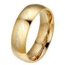 Anel Senhor Dos Anéis Um Anel (one Ring) Tungstênio Ouro