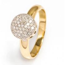 Anel Chuveiro Com 37 Diamantes Em Ouro 18 Quilate