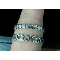 Anel Aliança Prata 925 Estilo Pandora Estrela Coração