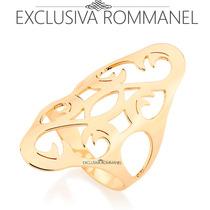 Rommanel Anel Forma Oval Detalhes Vazados Estilizados 512239