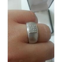 Ivi1388= Anel Vivara O. Branco 18k ! Diamantes!