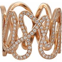 Anel De Dedo Em Diamantes E Ouro 18 Quilate