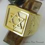 Anel Estrela Davi De Salomão Banho De Ouro 18k Ojoalheiro