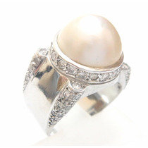 Attelierjoias Anel Ouro 18k750 Diamantes E Pérola Mabe